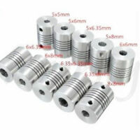 5/6/6.35/8mm Flexible Shaft Coupling Rigid  For CNC  Motor Coupler Connector