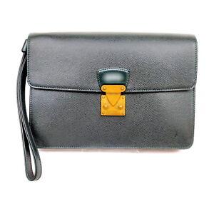 Louis Vuitton LV Clutch Bag M30194 Kourad Greens Taiga 1526300