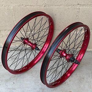 "SALT CASSETTE 20"" RED 9T RHD WHEELSET BMX BIKE BICYCLE WHEELS CULT RANT SUNDAY"