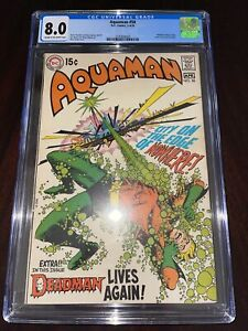 Aquaman #50 - CGC 8.0 VF Deadman backup story! 1970!