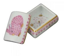 HEREND TOOTH FAIRY BOX PINK BABY BUNNY FISHNET DESIGN