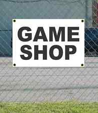 2x3 GAME SHOP Black & White Banner Sign NEW Discount Size & Price FREE SHIP