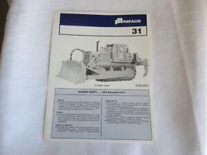 Fiat-Allis Allis-Chalmers 31 crawler tractor brochure