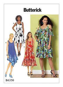 Butterick B6350 PATTERN Misses' Dress Sizes XSM-XXL