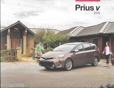 2015 15 Toyota  Prius V  oiginal sales brochure
