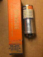 Nos Nib Sprague 35 + 35 + 10 + 5 uf at 450v Tvl-4771 Can Capacitor Guaranteed