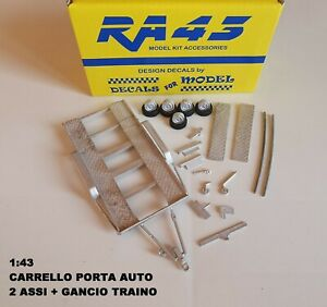 1/43 Carrello portauto Trailer Carro Wagen Remorque auto Kit