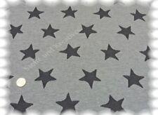 Jaquard Sterne grau Sweat Strick 195 cm breit 50 cm Strickstoff Sternenstoff