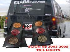 2003 07 Scion XB JAZZ JDM T1 Style Tail Light Set Unpainted Black Plastic