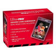 """Ultra PRO 200ct Semi Rigid 1/2"""" Lip Tall Sleeves - Transparent"""
