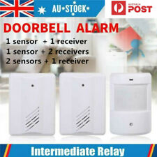 AU Door bell Wireless Sensor Detector Gate Entry Chime Bell Alarm Alert Motion