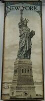 Wall Decor: 8x20- New York Statue of Liberty- Pre Owned- USPS Priority Mail