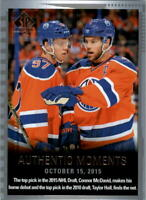 2015-16 SP Authentic Oilers Hockey Card #160 Connor McDavid Taylor Hall AM RC