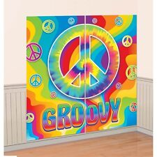Party Supplies Decorations Hippy Hippie 60's Groovy Scene Setter Wall Decoration