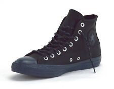 098e12d39ae9 Converse Chuck Taylor All Star Hi Black Sharkskin Mens Leather Hi-top  Trainers UK 9