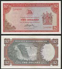 RHODESIA - 2 Dollars 1.3.1976 UNC- Pick 35a