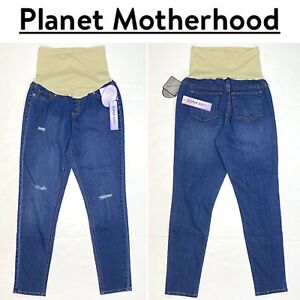 Planet Motherhood Maternity Distressed Jeans NWT Size L(12/14)