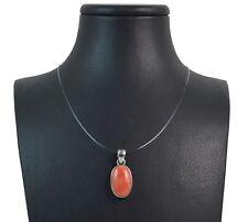 Ciondolo in Corallo Rosso del Mediterraneo e Argento 925. Made in Italy