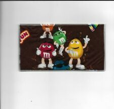 M&M CANDY CHECKBOOK COVER REGISTERED FABRIC RED AND YELLOW