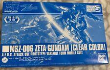 Bandai Gunpla Expo HG 1/144 MSZ-006 Zeta Gundam Clear Color Version Limited JPN