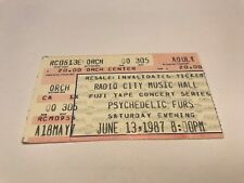 Rare Psychedelic Furs Concert Ticket Stub 6/13/87 Radio City Music Hall