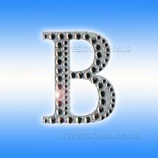 5cm Silver Diamante Craft Stickers Letters Adhesive Favour Alphabet Wedding Letter B