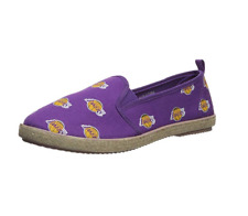 FOCO Women's NBA Los Angeles Lakers Espadrille Canvas Shoe