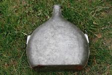 Bouteille gourde plate métal aluminium rétro / Vintage French Metal Flask