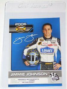 2006 PRESS PASS NASCAR TOP 25 DRIVERS & RIDES JIMMIE JOHNSON CARD #D22