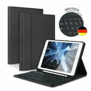 DEUTSCHE Tastatur für iPad 2018/2017 Air 1/Air 2 Bluetooth Keyboard Schutzhülle