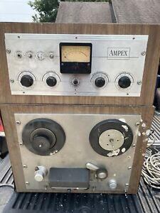 Ampex Vintage Reel to Reel Player Recorder W Pedal