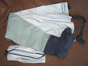 Simms USA lightweight stocking foot chest waders & carry bag