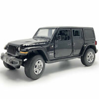 Jeep Wrangler Sahara Rubicon 1:32 Model Car Diecast Gift Toy Vehicle Kids Black