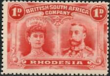 Rhodesia 1910  1d Rose-Red  SG.125  Mint (Hinged)