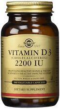 A Solgar Vitamin D3 (2200) 100 Capsules