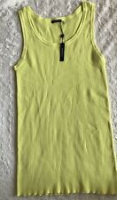 Magaschoni Neon Ribbed Knit Tank Top Large Sleeveless New