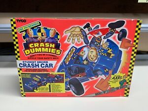 NEW THE INCREDIBLE CRASH DUMMIES STUDENT DRIVER CRASH CAR TYCO W/ AXEL SEALED