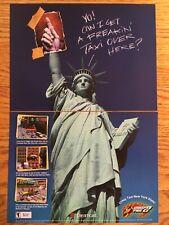 Crazy Taxi 2 Dreamcast DC 20001 Vintage Video Game Poster Ad Art Print Advert