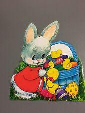 Retro Vintage Easter Decorations Paper Cardboard Die Cut Eureka Rabbit Dennison