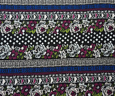 Cotton Lycra Fabric Flower Bohemian Print Jersey Knit By The Yard #5 4/17