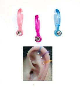 3 x funky little ear clips cuffs, sit over the top of ear, non piercing