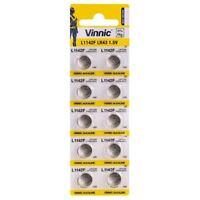 Piles/Cells boutons alcaline G13 AG13/L1154/LR44/157/V13GA/RW82 de marque VINNIC