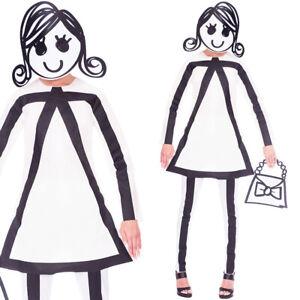 Stickwoman Funny Costume Fancy Dress