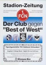 Programm Best of West - 1. FC Nürnberg  28.05.2003 Freundschaftsspiel