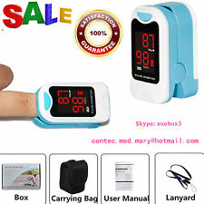 LED Fingertip Pulse Oximeter Blood Oxygen Spo2 Monitor FREE CASE CMS50M,US SALE