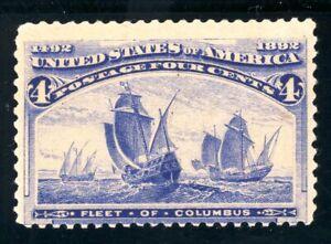 USAstamps Unused VF US 1893 Columbian Expo Fleet of Columbus Scott 233 OG MHR