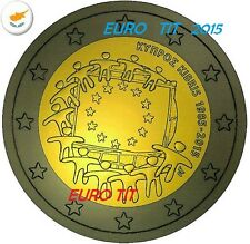 2 €  CHYPRE  COMMEMORATIVE  1  X  PIECE    2015    DRAPEAU  RARE  /   disponible