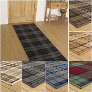 runrug Extra Long Hallway Carpet Runner Rug Heavy Duty Washable Kitchen Tartan