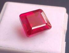 11.60 CT Ruby Burma Emerald Cut AAA Quality Loose Gemstone