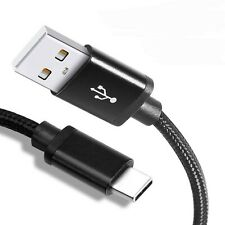 USB-C Kabel mit Nylon Ummantelung, Smartphone Ladekabel extra schnell